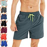 coskefy Badehose Für Herren Badeshorts Jungen Schwimmhose Schnelltrocknend Kurz Beachshorts Boardshorts Strand Shorts Sporthose mit Mesh-Futter...