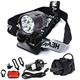 Nestling® 5200Lumens CREE XML T6 LED Bike Light Set,Waterproof Front Bicycle Lights Headlight