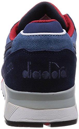 Diadora N9000 Nyl, Pompes à plateforme plate mixte adulte Bleu