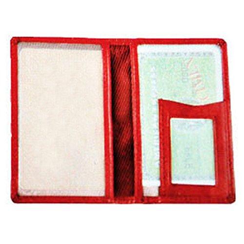Charmoni–Tür Ticket U Kreditkarte Navigo Foto Ausweis der Titel Transport-Leder echtes Rindsleder NEU Many, rot (Rot) - Many_r