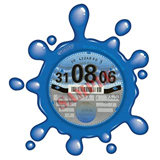 Parking Permit Holder Skin BLUE SPLAT- FREE POSTAGE