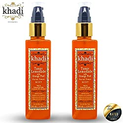 Khadi Global Tangy Lemonade With Orange Peel MIST Facial Toner 100% Natural & Safe Contains No Alcohal Pack Of 2 (Total 200 ml)
