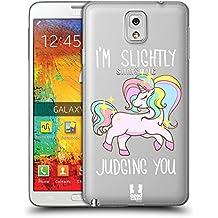 Head Case Designs Légèrement Licornes Insolentes Étui Coque D'Arrière Rigide Pour Samsung Galaxy Note 3