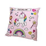 Bunte Einhorn Form Kissenbezüge Throw Pillow Kissenbezug Home Schlafzimmer Dekor 45cm x 45cm