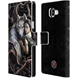 Official Anne Stokes Soul Bond Wolves 2 Leather Book Wallet Case Cover For Samsung Galaxy A5 (2016)
