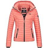 Marikoo SAMTPFOTE Damen Stepp Jacke Daunen Look Gesteppt Übergang XS-XXL 11-Farben, Größe:L;Farbe:Coral