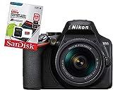 Nikon D3500 Fotocamera Reflex Digitale con Obiettivo Nikkor AF-P 18/55VR + Memoria Sandisk 64 gb