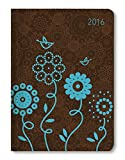 Buchkalender Mini Style Blue Bird 2016 - Taschenplaner/Taschenkalender A6 - Day By Day - 352 Seiten