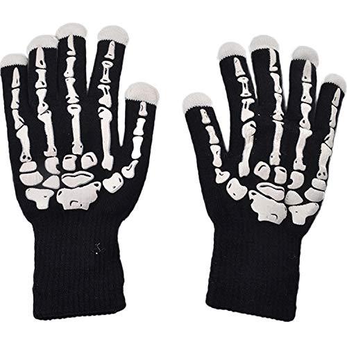 LED Magische Leichte Handschuhe, Bunte Schädel des Schädelknochens, Personalisiertes Grelles Geschenk