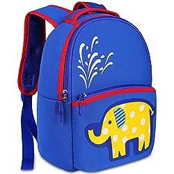 Mochila Infantil Niño, YAMTION Mochilas Guardería Preescolar para Bebé Niño Niña Toddler Backpacks, Mochila Escolar para Niños 3-6 Años(Azul-Elefante)