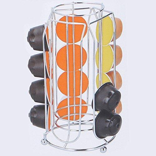 Stand portacapsule porta cialde capsule caffè dispenser in metallo 20 posti verticale
