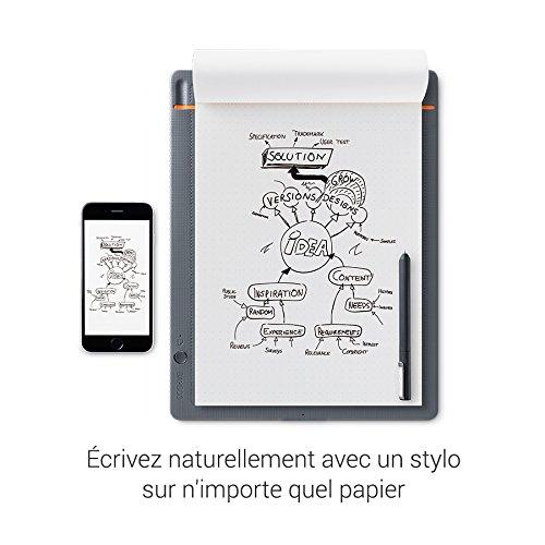 Wacom Bamboo Slate Smartpad A5 - Kleines Notepad mit Digitalisierungs-Funktion inkl. Eingabestift mit Kugelschreibermine - Kompatibel mit Android und Apple