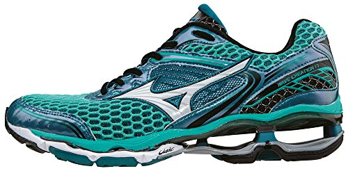 Mizuno Wave Creation 17, Chaussures de Running Compétition Femme Turquoise (Atlantis / White / Black)