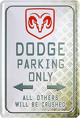 blechschild-dodge-parking-only-20-x-30-cm-reklame-retro-blech-1059