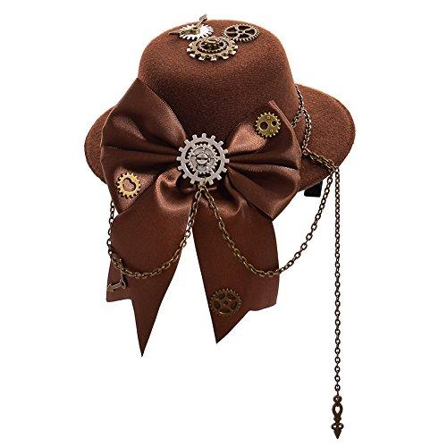 Kostüm Kopfbedeckung Klammern - GRACEART Steampunk Hut Frauen Topper Kopfbedeckungen (D)