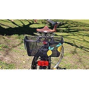 """Fahrradkorb Gepäckträger Einkaufskorb handbestickt """"Zitrone"""""""