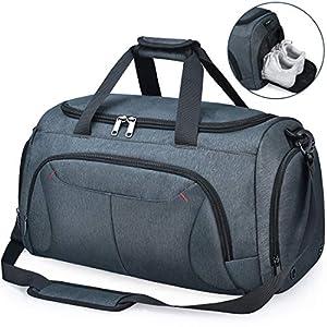 NUBILY Sporttasche Herren Reisetasche Weekender mit Schuhfach Große Wasserdicht Fitnesstasche Trainingstasche Gym Sport…