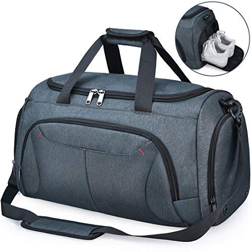 NUBILY Bolsa de Deporte Hombre Bolsas Gimnasio Mujer con Compartimento para Zapatos Bolsos de Viaje...