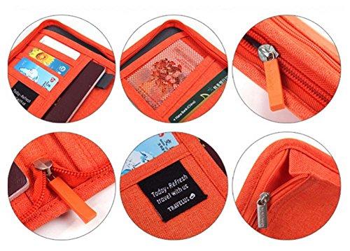 Kasten-Abdeckungs-wasserdichter Pass-Halter-bewegliche Beutel Orange