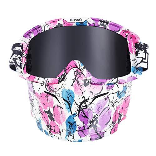 Gnzoe PC Motorradbrillen Fahrradbrille Maske Radsportbrille Helmbrille Winddicht Schutzbrillen für...