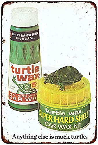 Harvesthouse Turtle Wax Liquid Car Wax Vintage Ad Reproduction Metal Sign 8 x 12 by -