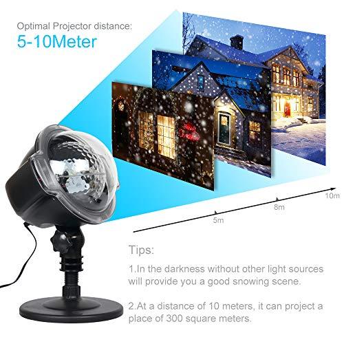 Weihnachtsbeleuchtung Aussen Schneefall.Ankouja Led Projektor Weihnachtsbeleuchtung Christmas Lights