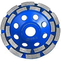 S&R Diamantschleiftopf 125x22,2 mm für Beton, Granit, Naturstein, Stein, Mauerwerk, 2-reihig. Profi-Qualität