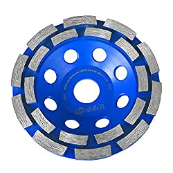 S&R Diamond Grinder Disc / Diamond Cup Wheel/ 125 x 22,2 mm / Diamond Cuttig Wheel for : Concrete, Marble, Granite, Natural stone
