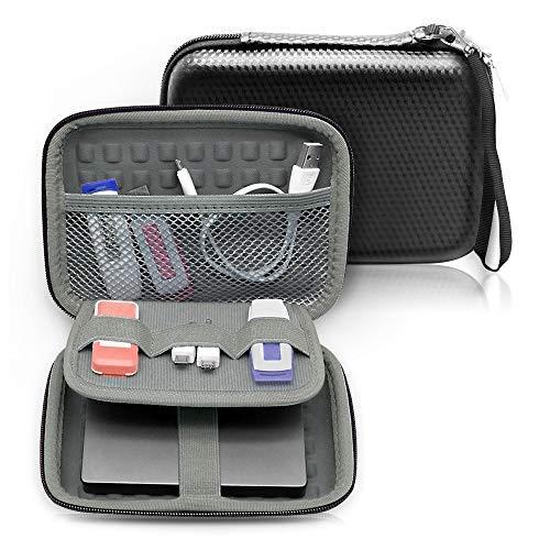 Ropch Festplattentasche 2,5 Zoll Universal, Stoßsichere Schutzhülle für Externe Festplatten, Powerbank, USB Kabel, USB Stick, Speicherkarte, Schwarz