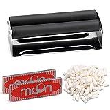 DIMJ Zigarettenmaschine Set, drehmaschine mit 100 PCS Zigarettenpapier, 100 Stücken Zigarettenfilte