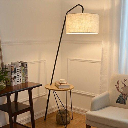 Meters Pêche lampadaire table basse en bois massif lampadaire salon canapé-lit lampe de chevet lampe de lecture (Couleur : Logs)