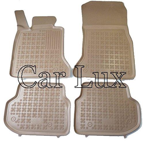 Car lux NAR02009 - Alfombras Alfombrillas de goma a medida tipo cubeta beige