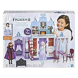 Disney Frozen 2 – Castello di Arendelle Pieghevole, Casa Delle Bambole Ispirata al Film Disney Frozen 2, Gioco Portatile Adatto A Bambini dai 3 Anni in Su