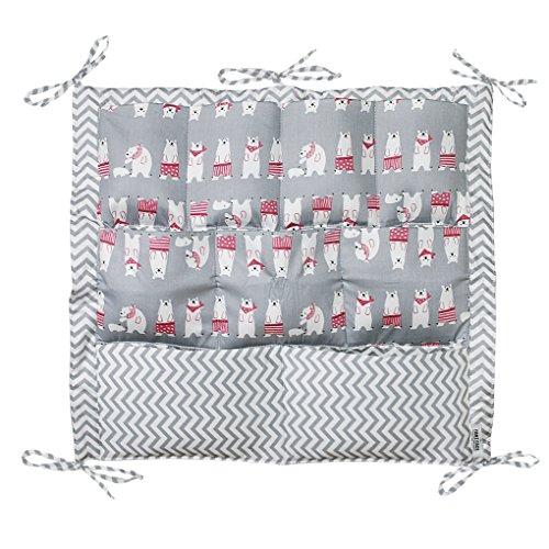 Preisvergleich Produktbild Kinderbett Hängeorganizer, Kinderzimmer hängende Aufbewahrung Windeln Organizer praktische Ordnungssysteme Süß Karikatur 50*60cm