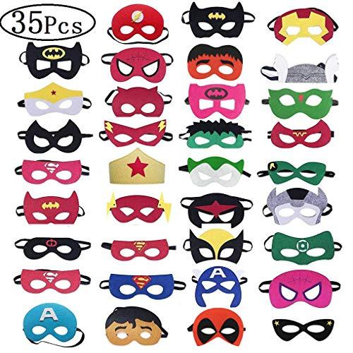 asken, Kindermasken, Filz Masken, Super Masken für Erwachsene und Kinder Cosplay Party (35 Stücke) ()