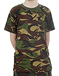 9e83f508 Top Gun Kids Army Camouflage T-Shirt Camo Fits Age 11-12 Yrs Chest 34