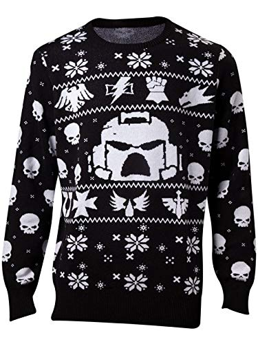 Difuzed Warhammer 40K Knitted Christmas Sweater Space Marines Size XL Felpe