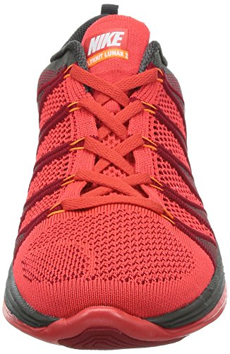 Nike 620465 011 Flyknit Lunar2 Herren Sportschuhe - Running Light Crimson/White-Gym Red-Midnight Fog