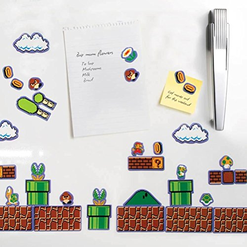 Set di 80 ufficiali di Nintendo Super Mario Bros. Collectors Edition del frigorifero Magneti
