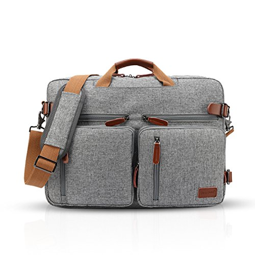 FANDARE Messenger Bag Borsa a Tracolla Borsa Crossbody 17.3 Pollice Laptop Briefcase Scuola Borsa Zainetto Schoolbag Zaino Multifunzione Poliestere Grigio Grigio