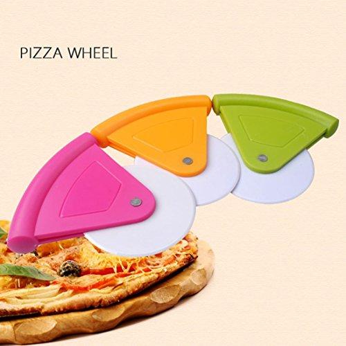 HCFKJ Kunststoff GebäCk Nonstick Pizza Cutter Rad Slicer Klinge Grip -
