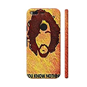 Colorpur Google Pixel XL Cover - Jon Snow You Know Nothing 2 Printed Back Case