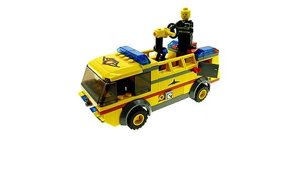 1 X Lego System Set Modell Nr 7891 Löschfahrzeug Gelb Flughafen