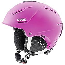 Uvex p1us 2.0 Esquiar, Snowboard Rosa - Cascos de protección para Deportes (Sistema de Ajuste IAS, Mate)