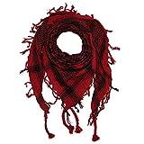 Superfreak® Palituch zweifarbig klassisch°PLO Schal°100x100 cm°Pali Palästinenser Arafat Tuch°100% Baumwolle, Farbe: rot/schwarz