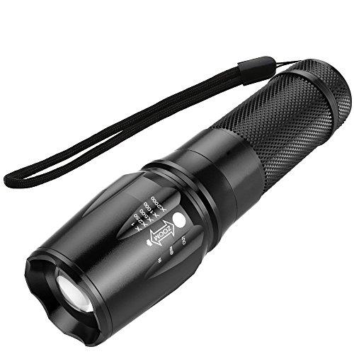 Sunspeed Taschenlampe LED/5 Modus Regulierbar/500 Lumen /IP65 Wasserdicht/ 26650 AufladbareBatterie+ Ladegerät+3 AAA Akku-Halter