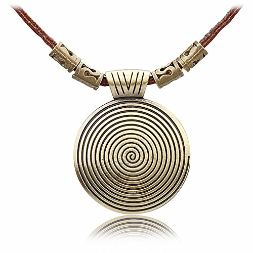 Luziang Halskette Europa und die Vereinigten Staaten Wind Arts frische Kleinlederwaren Pullover Kette Innengewinde Legierung große Schmuck