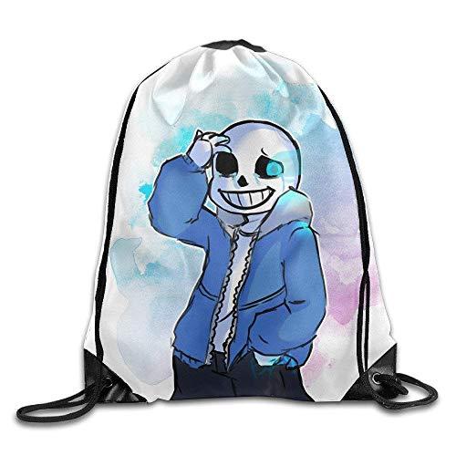 Etryrt Mochilas/Bolsas de Gimnasia,Bolsas de Cuerdas, Sans Undertale Gym Drawstring Backpack Sport Bags
