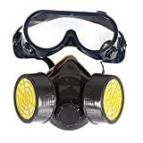 Química Industrial Gas Anti-Polvo spray de pintura face mask Mascarilla + Gafas