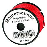LOT-MAURERSCHNUR 100 m x Ø 1,2 mm ROT